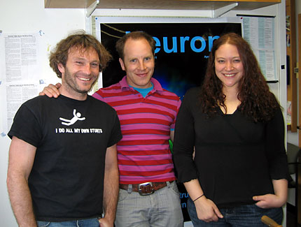(l to r) Florian Engert, Adam R. Kampff and Rebecca L. Vislay-Meltzer