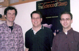 (l to r) Alex Schier, Jason Rihel and David Prober