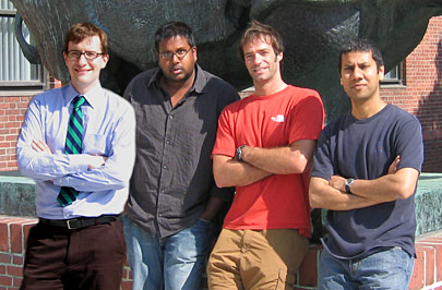 (l to r) Authors Gabor Petzold, Sumon Pal, William Tyler, and Venkatesh Murthy