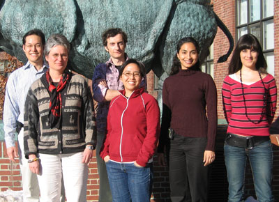 (l to r) Philip S. Choi, Catherine Dulac, Alexander F. Schier, Wen-Yee Choi, Lisa Zakhary, and Sophie Caron