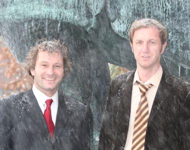 Florian Engert (l) and Johann Bollmann
