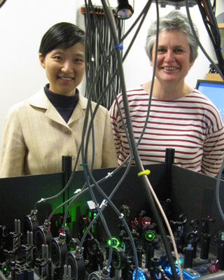 (L to R) Xiaowei Zhuang and Catherine Dulac