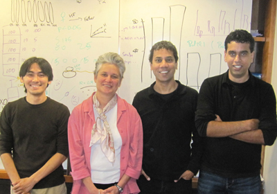(l to r) Yoh Isogai, Catherine Dulac, Venkatesh N. Murthy, and Vikrant Kapoor