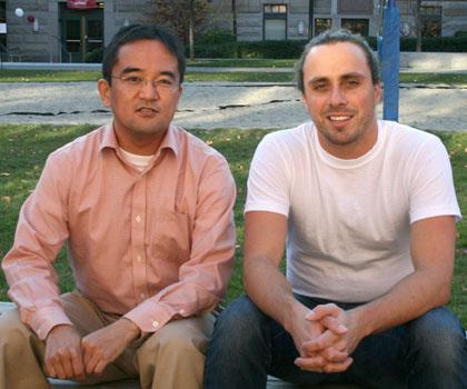 Naoshige Uchida (l) and Kevin M. Cury