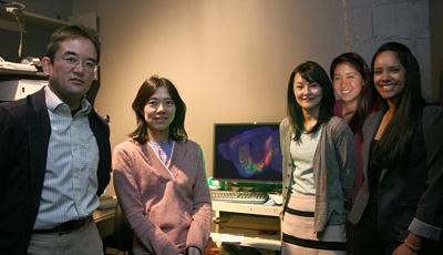 (L-R) Naoshige Uchida, Mitsuko Watabe-Uchida, Sachie K. Ogawa, Lisa Zhu, and Archana Vamanrao