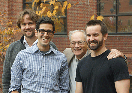 (l to r) Johan Paulsson, Nathan Lord, Rich Losick, and Thomas Norman