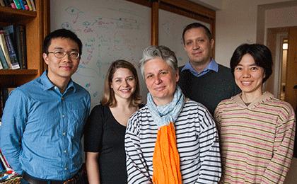 (l to r) Zheng Wu, Anita Autry, Catherine Dulac, Joseph Bergan, and Mitsuko Watabe-Uchida