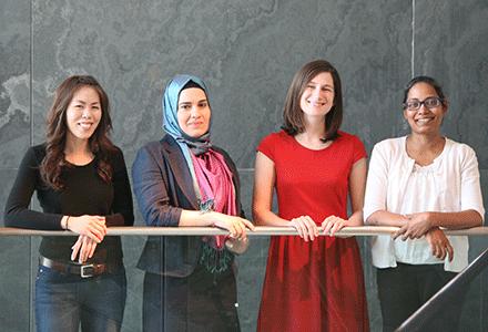 (l to r) Jennifer A. Lo, F. Zehra Yildiz, Sarah B. Miller, and Victoria D'Souza
