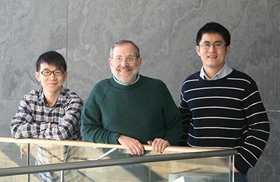 (l to r) Mu Qiao, Josh Sanes, and Xin Duan