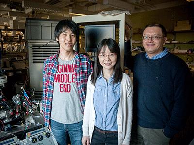 (l to r) Yohei Kobayashi, Zhanlei Ye, and Takao Hensch