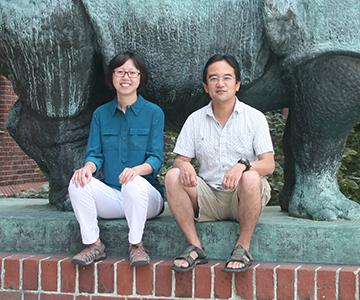 Ju Tian (l) and Nao Uchida