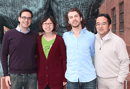 (l to r) Neir Eshel, Ju Tian, Michael Bukwich,  and Nao Uchida