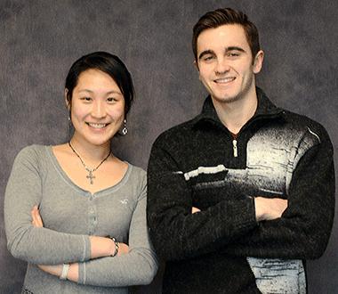 Jennifer Tu (l) and Renajd Rrapi
