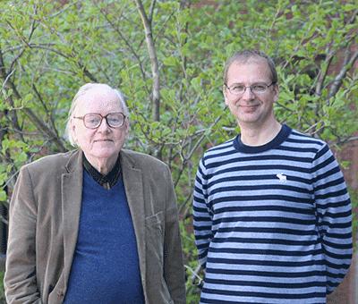 Howard C. Berg (l) and Basarab G. Hosu