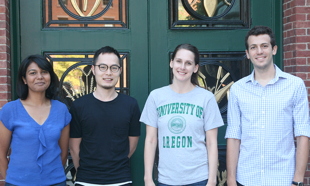 (l to r) Bushra Raj, Ryunosuke Amo, Jessica Osterhout, and Vassilis Bitsikas