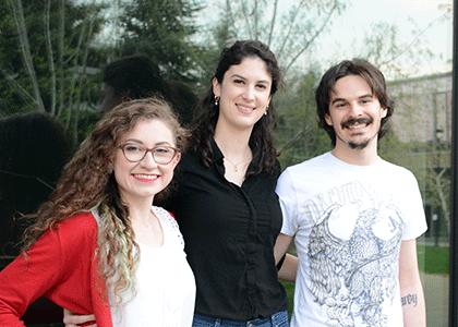 (l to r) Linda Honaker, Alexandra Mattei, and Gonzalo Gonzalez-Del Pino