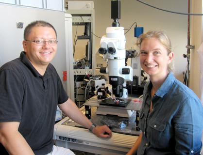 Takao Hensch (l) and Tania Rinaldi Barkat