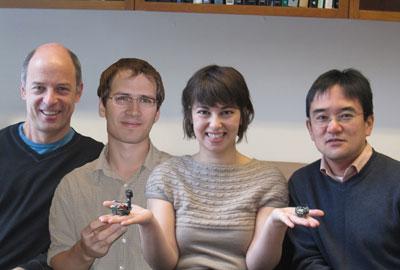 (l to r) Markus Meister, Tobi Szuts, Margarida Agrochao, and Nao Uchida
