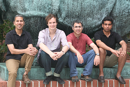 (l to r) Venki Murthy, Alexander Mathis, Dan Rokni, Vikrant Kapoor, and Matthias Bethge (not shown)