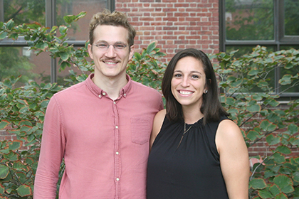 Felix Baier (l) and Alyson Ramirez