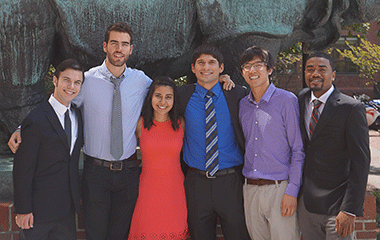 (l to r) Tyler Camp, Roberto Barroso-Luque, Stephanie Kabeche, Jacob Ferreira, Alan Wei, and Christopher Reid