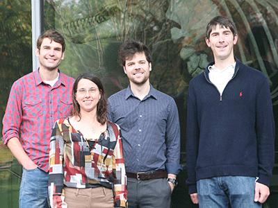 (l to r) Wilhelm Weihofen, Rachelle Gaudet, Lukas Bane, and Aaron Bozzi
