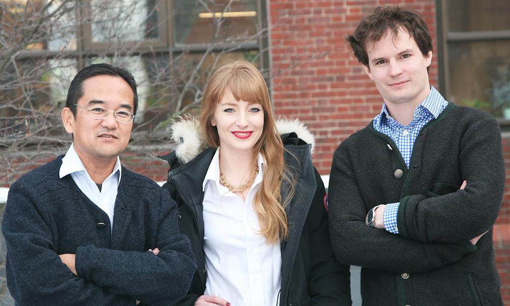 (l to r) Nao Uchida, Mackenzie Weygandt Mathis, and Alexander Mathis
