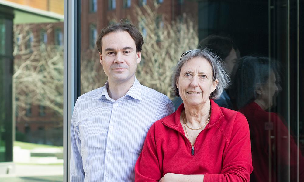 Eugene Gladyshev (l) and Nancy Kleckner