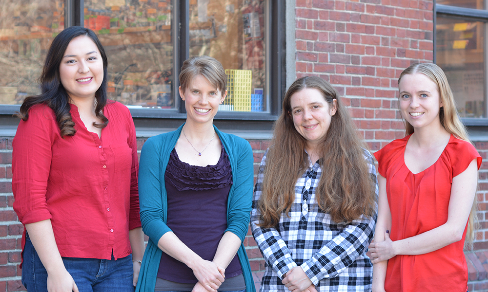 (l to r) Ann Aindow, Jenelle Wallace, Caitlin Lewarch, and Stephania Irwin
