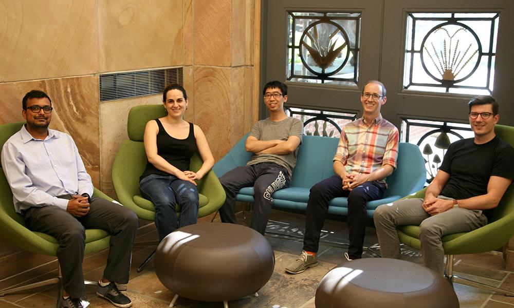 (l to r) Abhishek Shrivastava, Summer Thyme, Ding Liu, Jeff Farrell, and Joseph D. Zak