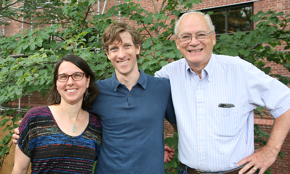 (l to r) Rachelle Gaudet, Niels Bradshaw, and Rich Losick