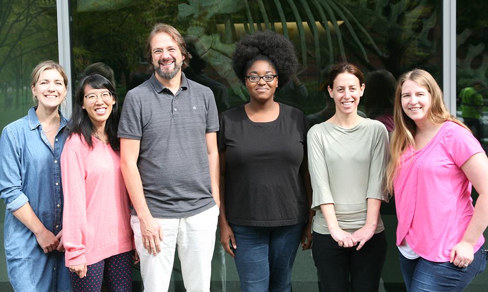 (l to r) Kathleen Quast, Jessica Liu, Sven-Uwe Heinrich, Monique Brewster, Hadar Malca, and Erica Homan