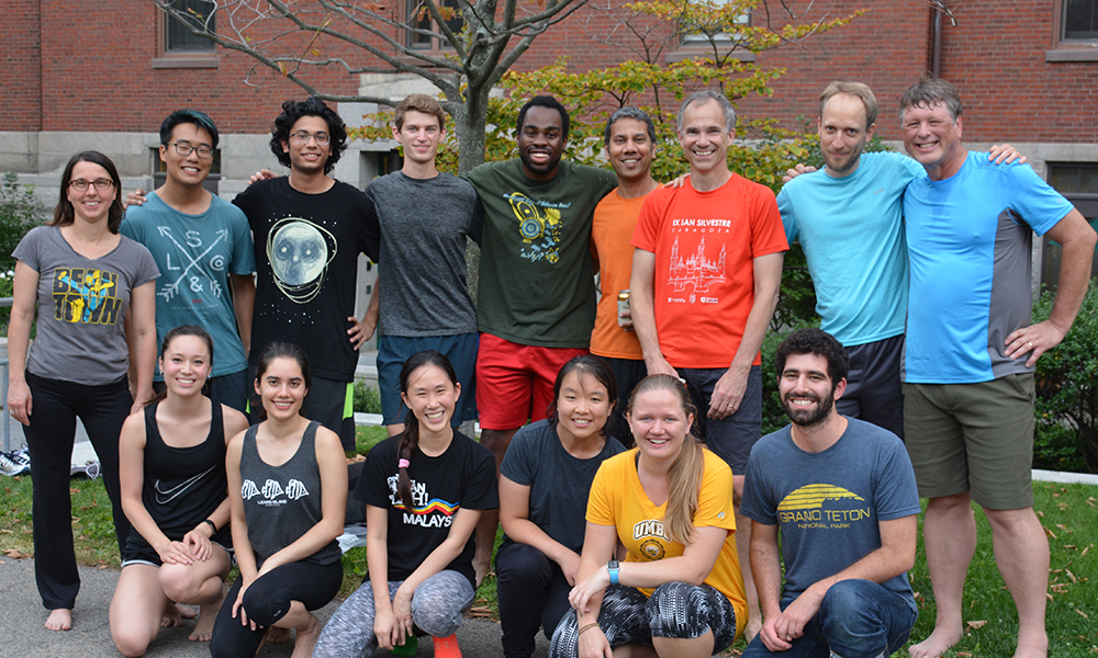 (standing l to r) Rachelle Gaudet, Will Xiao, Anurag Limdi, Charlie Longtine, Rockwell Anyoha, Venki Murthy, Sean Eddy, Doeke Hekstra, Craig Hunter, (sitting l to r) Rachel Lily Terry, Roya Huang, Ceejay Lee, Anna Cha, Heather Frank, and Jack Greisman