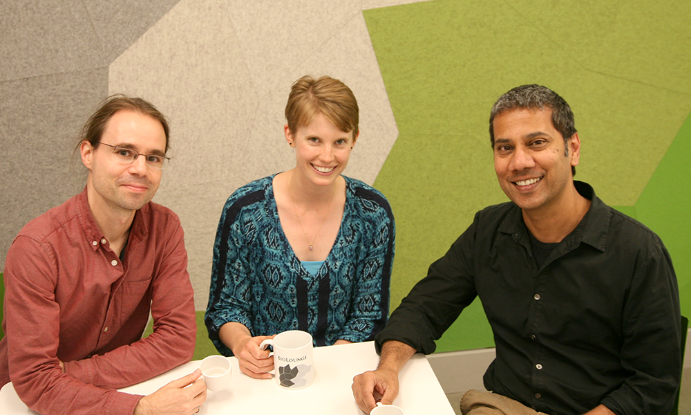 (l to r) Martin Wienisch, Jenelle Wallace, and Venki Murthy