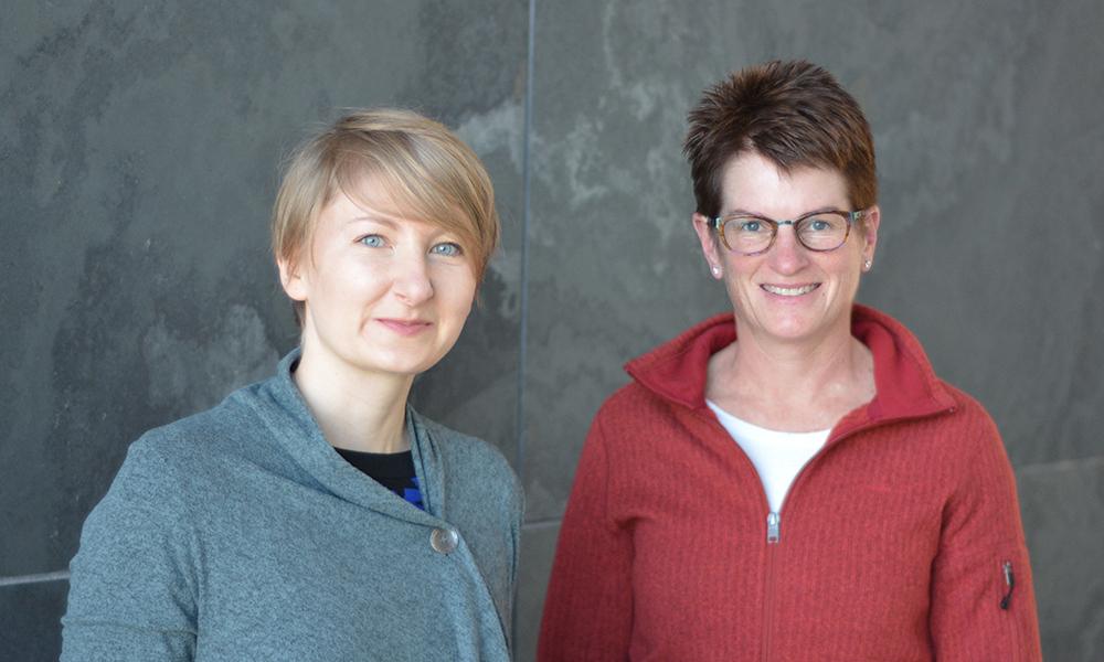 Ania Puszynska (l) and Erin O'Shea