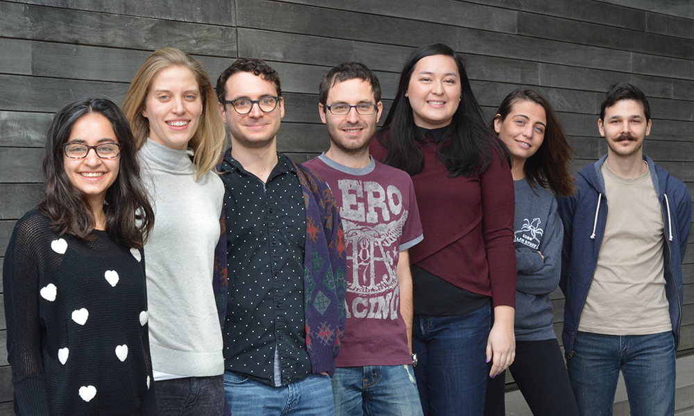 (l to r) Kalki Kukreja, Iris Odstrcil, Paul Schwein, Nico Wagner, Ann Aindow, Mariela Petkova, Julien Grimaud, (not shown) Candice Akiti, James Lee, Emily Nagy, Vincent Pham, and Joseph Zak