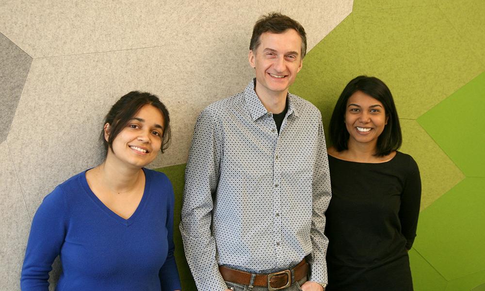 (l to r) Shristi Pandey, Alex Schier, and Bushra Raj