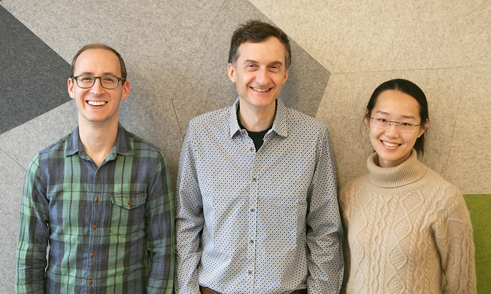 (l to r) Jeff Farrell, Alex Schier, and Yiqun Wang