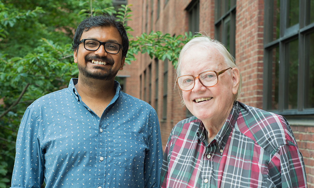 Abhishek Shrivastava (l) and Howard Berg