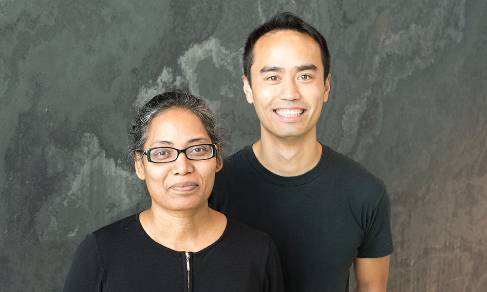 Victoria D'Souza (l) and Vincent Pham