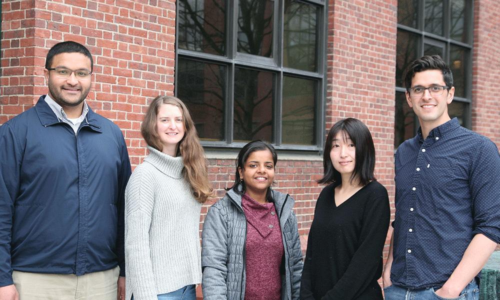 ( l to r) Athar Malik, Annika Nichols,Kritika Gupta,Yasuyo Tanaka, andNathan Lord