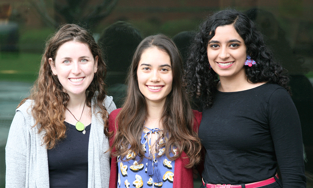 (l to r) Olivia Meyerson, Roya Huang, and Hasreet Gill
