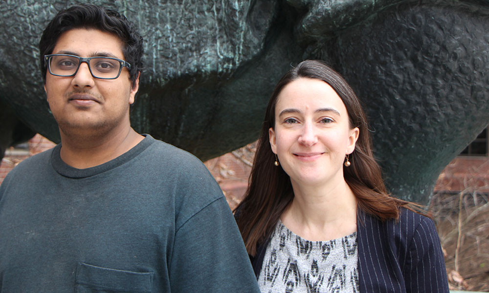 Udbhav Chitta (l) and Amanda Whipple
