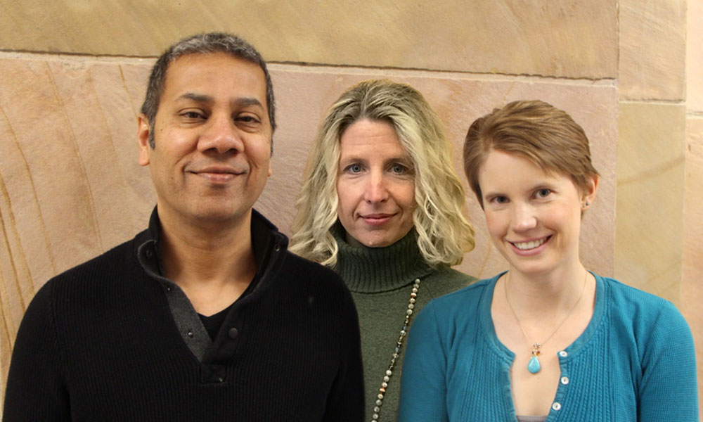 (l to r) Venki Murthy, Beth Stevens, and Jenelle Wallace