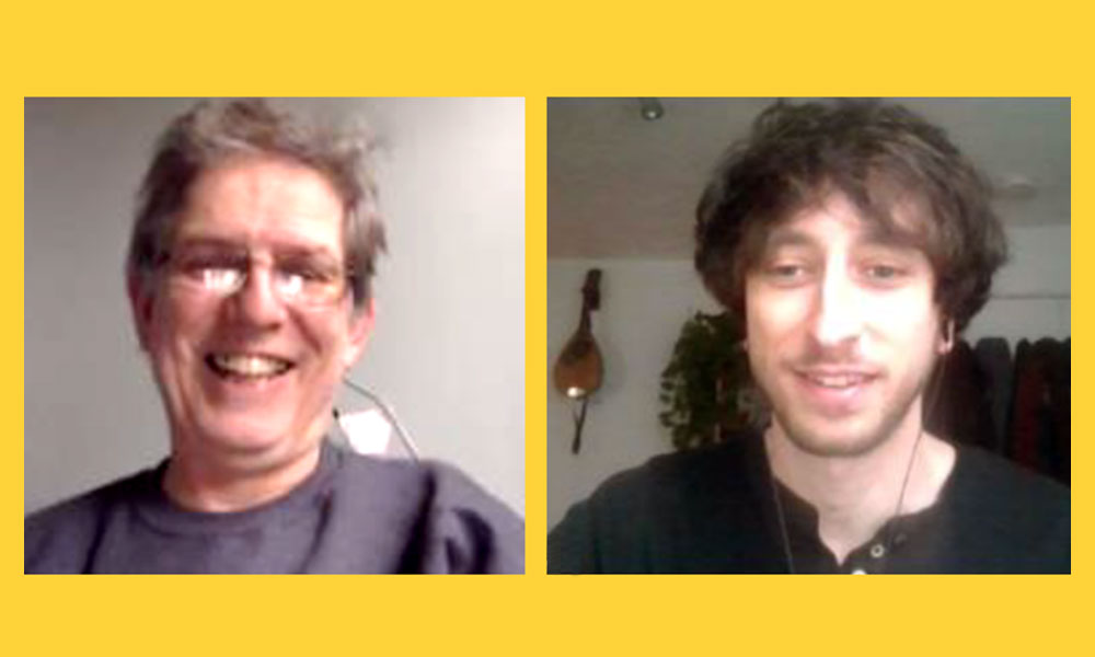 Andrew Murray (left) and Marco Fumasoni in a recent virtual meeting during the COVID-19 pandemic