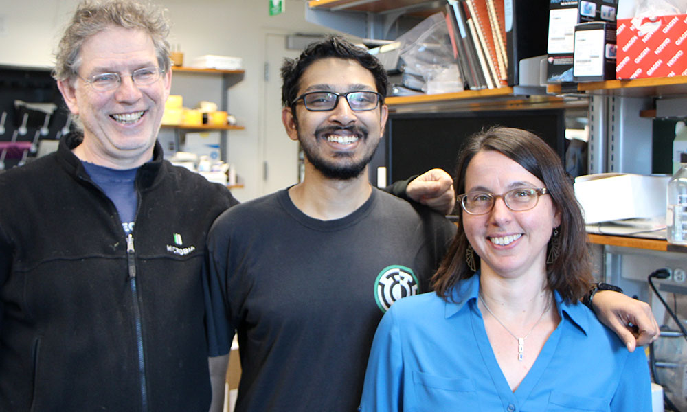 ( l to r) Andrew Murray, Sri Sriram, and Rachelle Gaudet