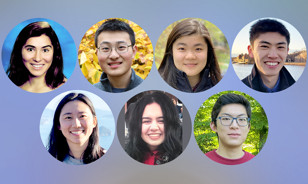 (l to r) Clara Cousins, Irene Lu, Michael Gao, Sally Nijim, Tessa Han, Alexander Ren, and Spencer Kim