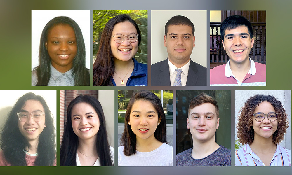 (TL to BR) Rachelle Ambroise, Connie Cai, Mohamed El-Abtah, Stephen Freeman, Carter Nakamoto, Lydia Pan, Kathleen Ran, Simon Schabl, and Taylor Shirtliff-Hinds