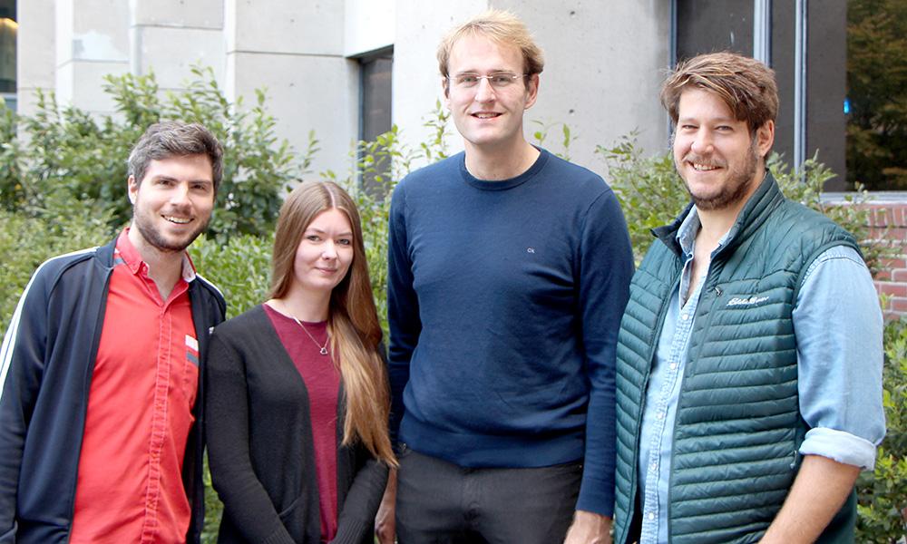 "(l to r) Luis Boero, Alina Guse, Fabian Voigt, and Juan Ignacio ""Nacho"" Sanguinetti-Scheck"